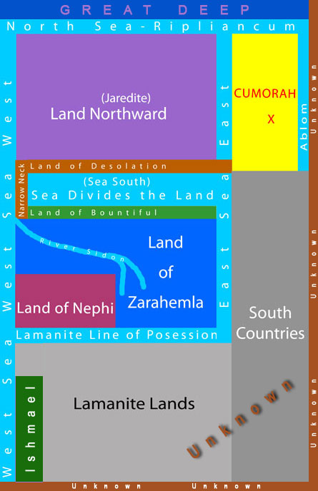 Internal Book of Mormon Geography Map