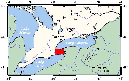 Niagara Peninsula Locator