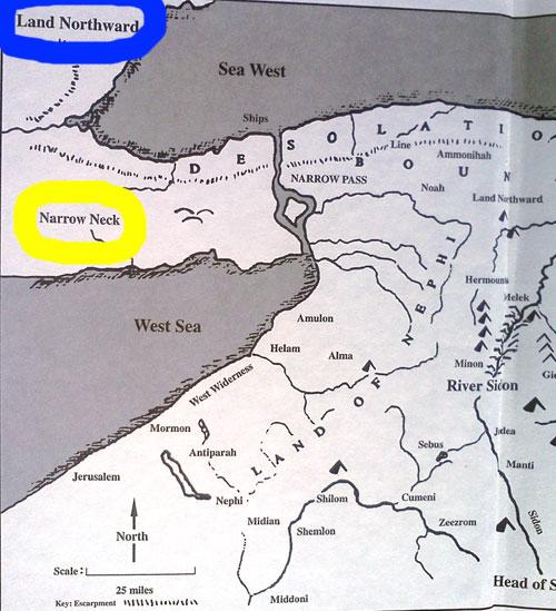 Duane R. Aston Book of Mormon Geography Map - Return to Cumorah