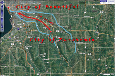 Route to City of Bountiful