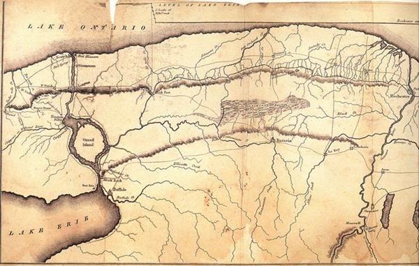 Lake Tonawanda Map 1825