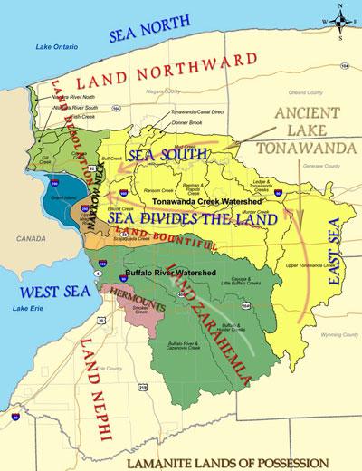 Tonawanda Watershed Map Overlaid