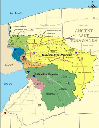 Tonawanda Watershed Map