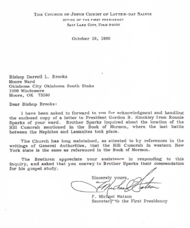 Watson Letter