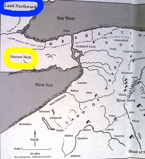 Duane R. Aston Book of Mormon Geography Map - Return to Cumorah